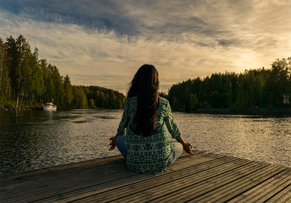 Meditate-by-lake
